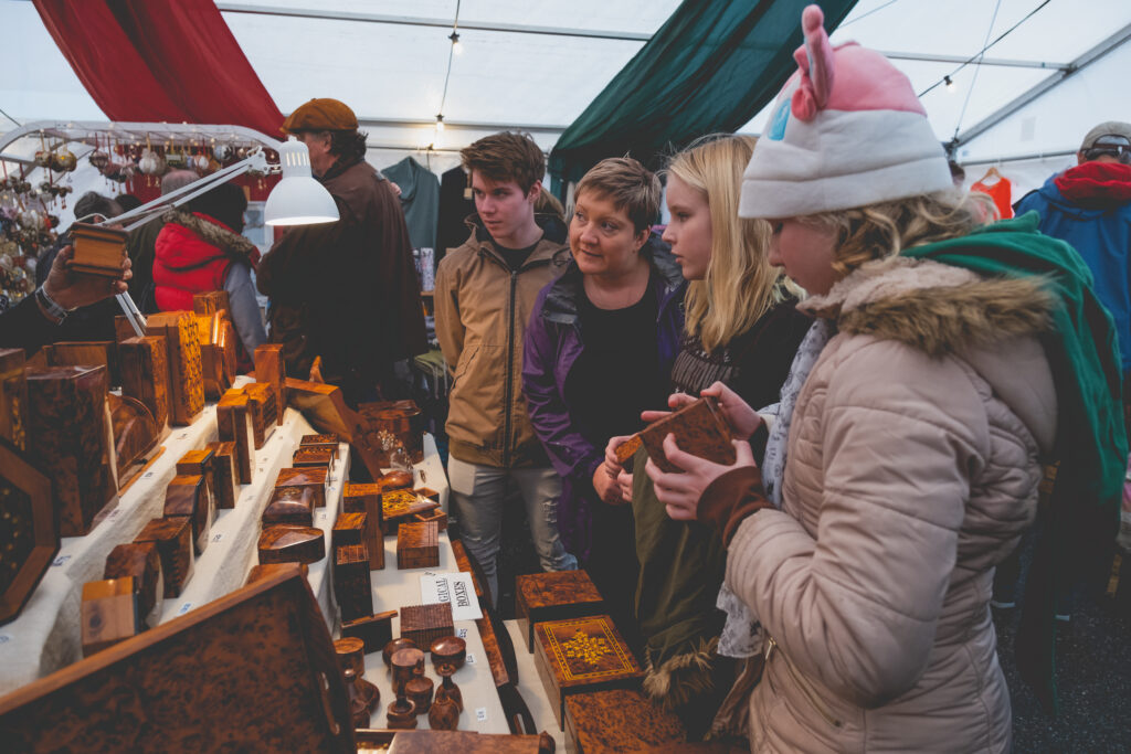 Unique wooden gifts at Fowey Christmas Market