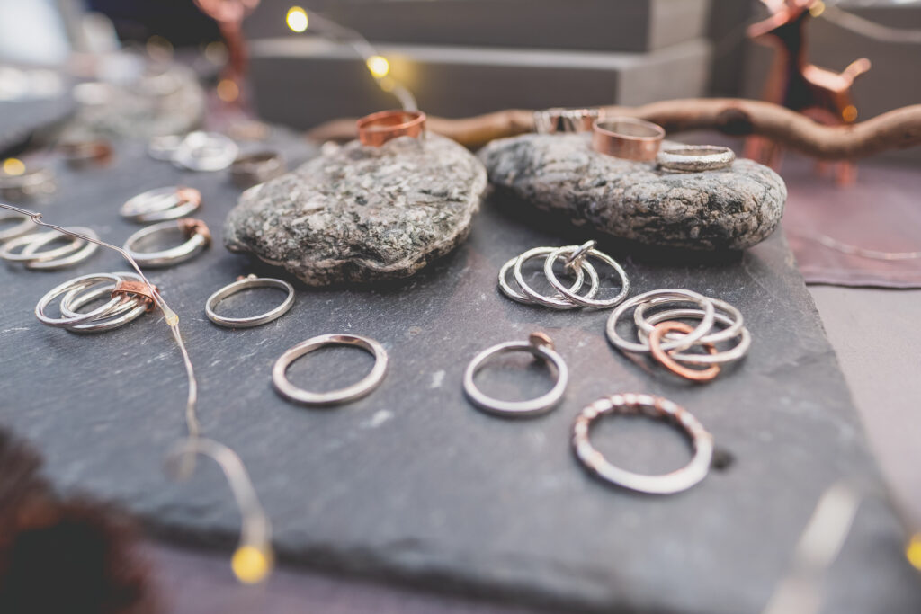 Beautiful hand made and unique Cornish jewellery at Fowey Christmas Market