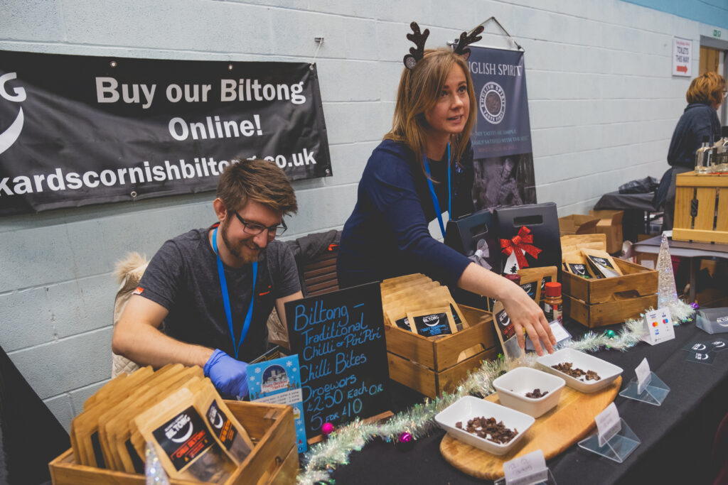 Cornish Biltong at Fowey Christmas Market in the Leisure Centre