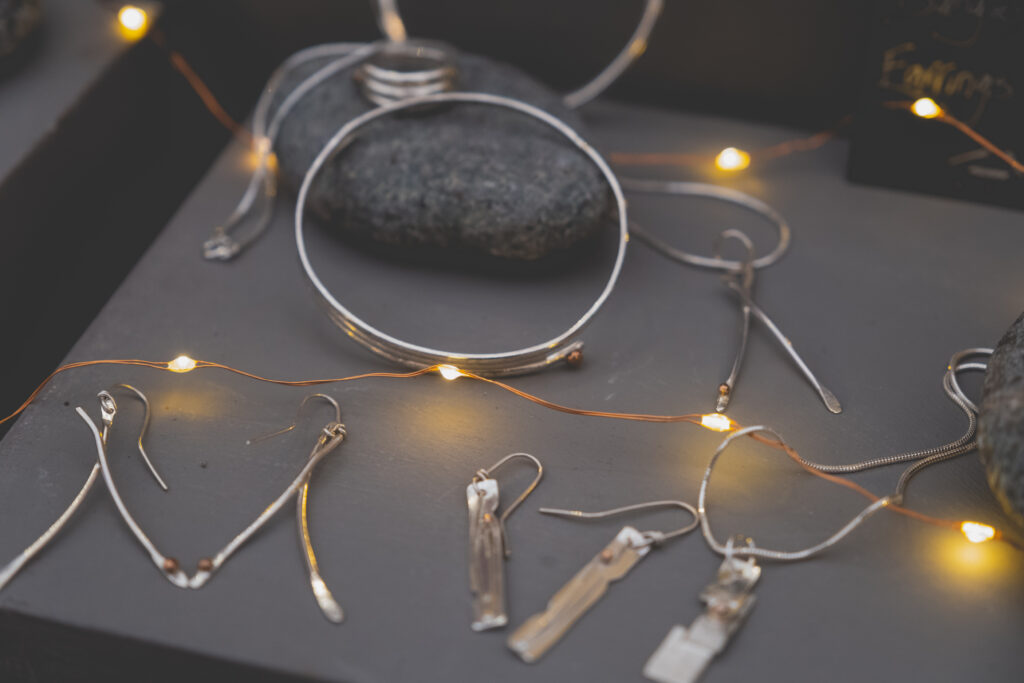 One-of-a-kind silver Cornish jewellery at Fowey Christmas Market