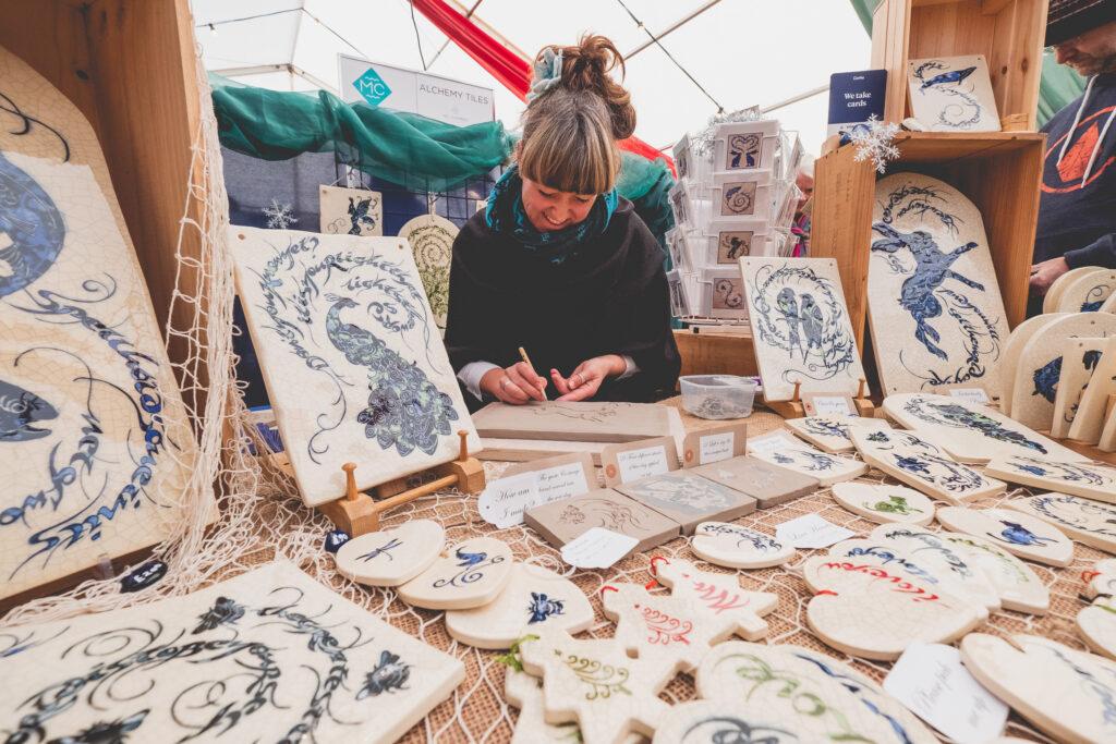 Art and creative gifts at Fowey Christmas Market